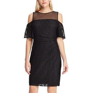 NWT Lace and Mesh Off-the-shoulder Dress